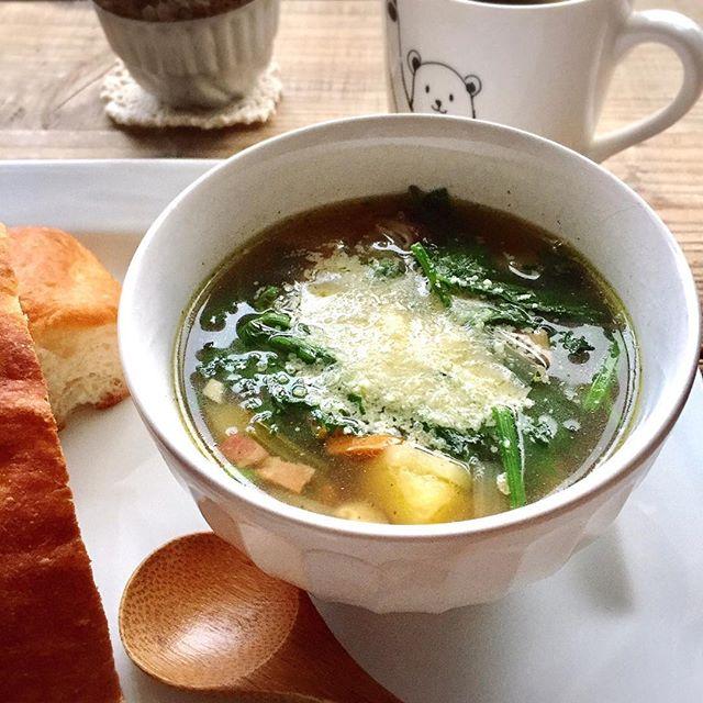 コンソメスープの具沢山