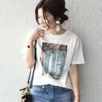 アラサー女子におすすめ☆プリントTシャツが主役のこなれ夏コーデ
