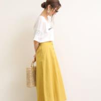 ポップなイエローを大人可愛く♡イエロースカートの夏スタイル15選