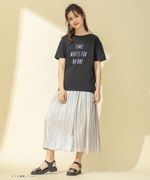 [Honeys] 半袖ロゴビックTシャツ