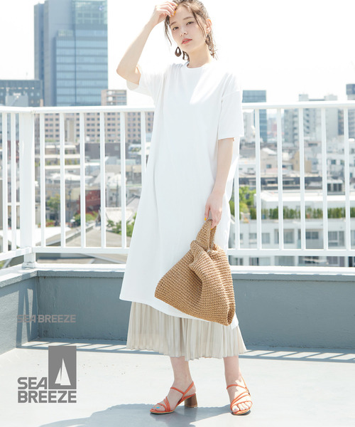 [ROPE' PICNIC] 【SEABREEZE×ROPE' PICNIC】カラーTシャツワンピース