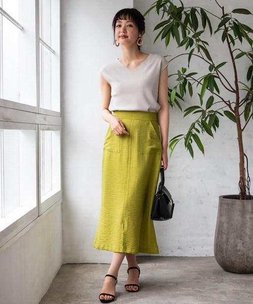 [TIENS ecoute] リネンライクソフトマーメイドスカート