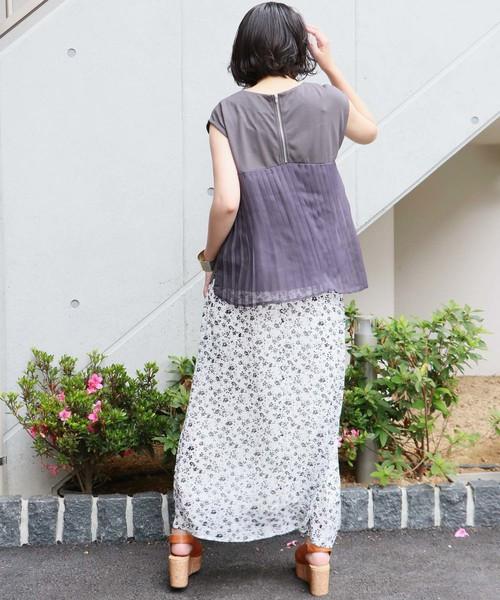 [HER CLOSET] 【HERCLOSET】バックプリーツノースリーブプルオーバー