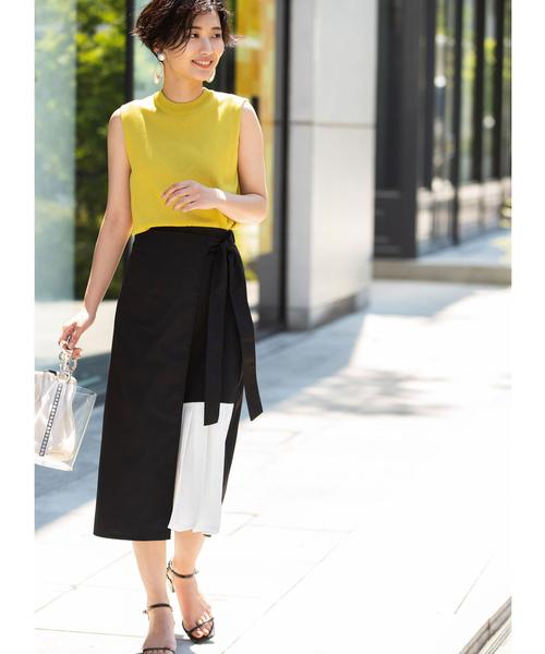 [tocco closet] プリーツデザインラップスカート