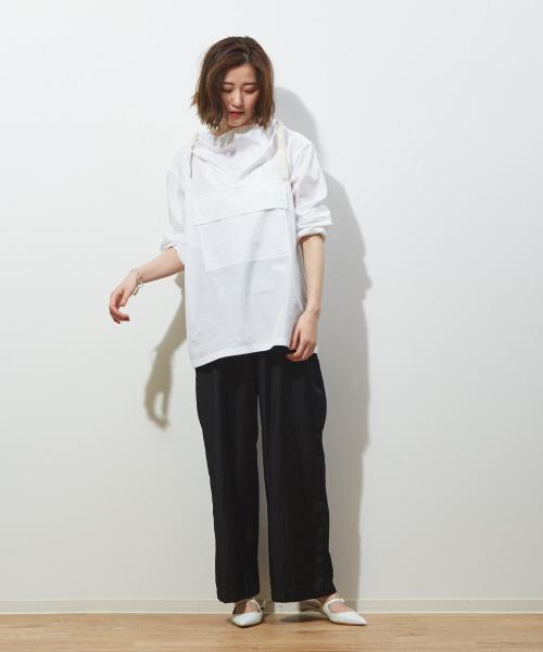 [Abahouse Devinette] ファインブロードアノラックシャツ