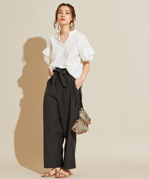 [BEAUTY&YOUTH UNITED ARROWS] BY∴ ラッフルスリーブスキッパーブラウス 2 -手洗い可能-