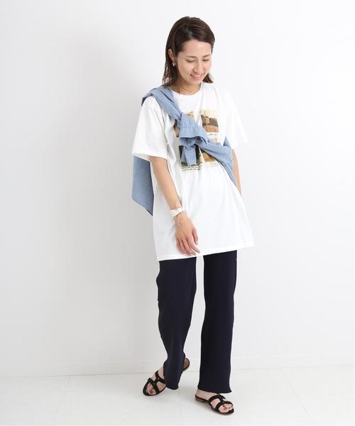 [Spick & Span] PHOTO Tシャツ◆