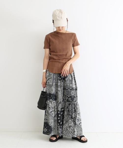 [Spick & Span] バンダナプリント ティアードスカート◆