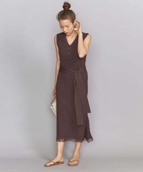 [BEAUTY&YOUTH UNITED ARROWS] <TORRAZZO DONNA>フリンジリブニットワンピース