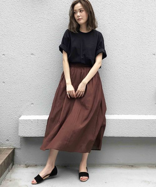 [PICCIN] 【WEB限定】ギャザーマキシスカート