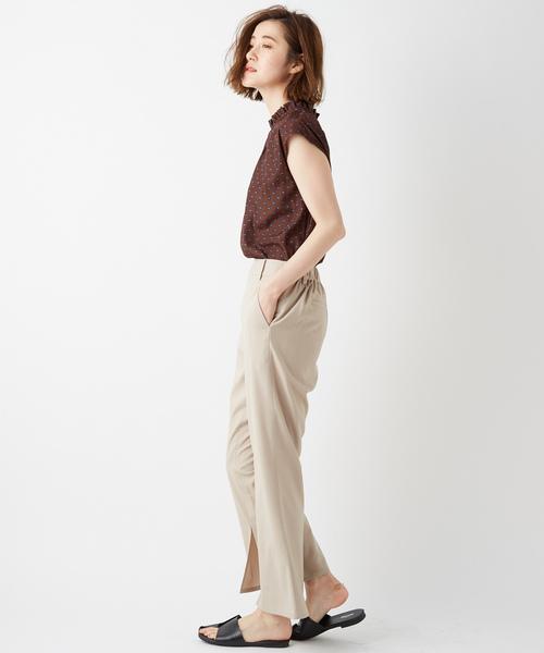 [Discoat] 裾スリットフレアパンツ