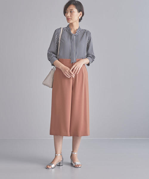 [green label relaxing] 【WORK TRIP OUTFITS】BC ボウタイ ブラウス ④