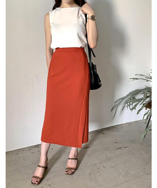 [Re:EDIT] カットジョーゼットラップ風セミタイトスカート
