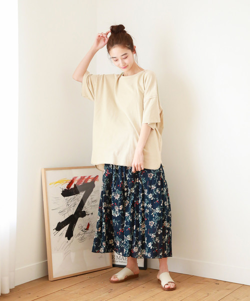 [niko and...] ピグメントオーバーTシャツ