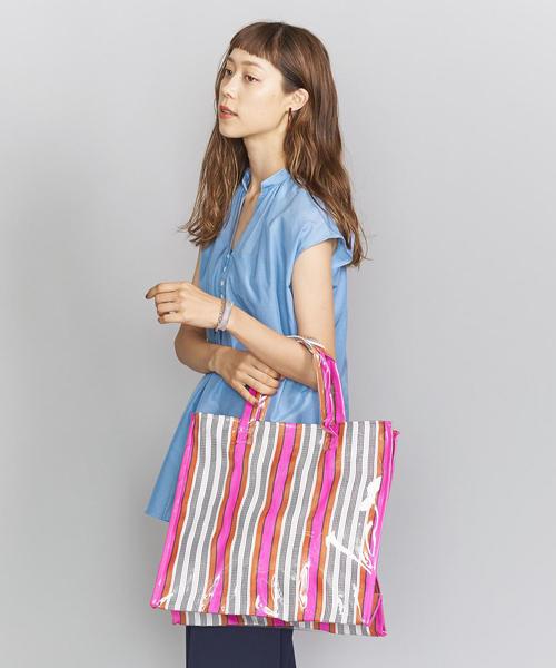 [BEAUTY&YOUTH UNITED ARROWS] <INDIA MARKET BAG>ストライプトートバッグ
