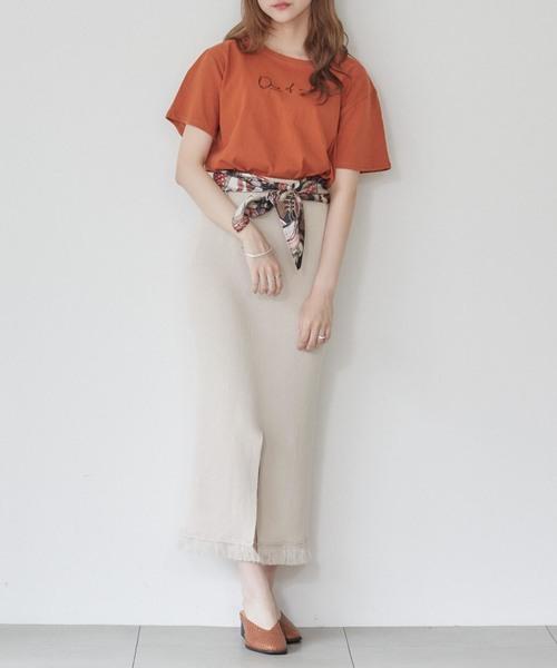 [UNRELISH] 【UNR】One of a kind ゆるネックTシャツ