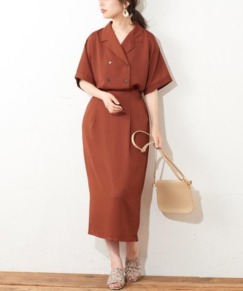 [natural couture] きれいめゆるタイトスカート