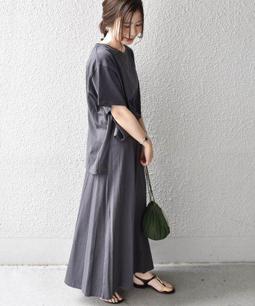 [SHIPS for women] Khaju:TEE×スカートセット