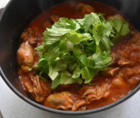 ふっくら牡蠣とトマトジュースの炊き込みご飯