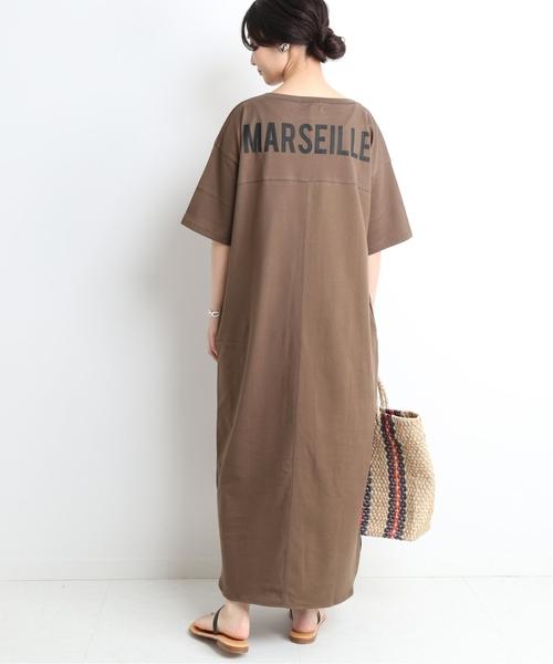 [IENA] MARSEILLE Tシャツワンピース◆
