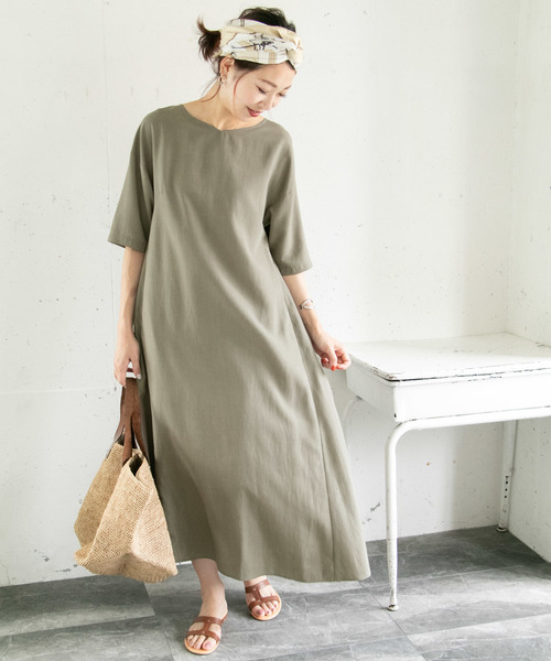 [URBAN RESEARCH ROSSO WOMEN] 5分袖マキシワンピース