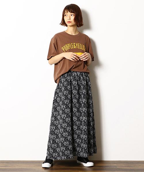 [COMME CA ISM] 小花柄 マキシスカート