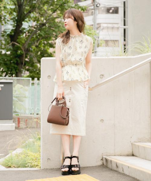 [Heather] ミニボタンIラインスカート 844136