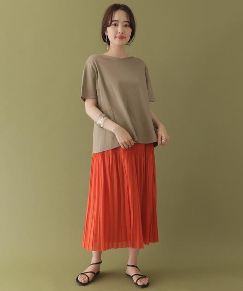[ITEMS URBANRESEARCH] トリコットプリーツスカート