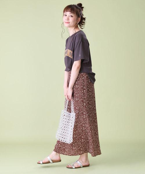 [FREAK'S STORE] 【WEB限定】プリントレオパードマキシスカート