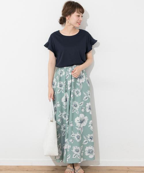[URBAN RESEARCH] トロピカルビッグフラワーマキシスカート