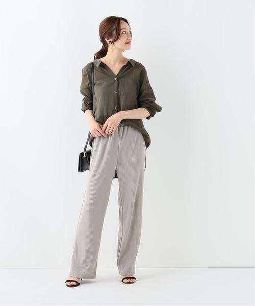 [IENA] コットンニュアンスオーバーシャツ◆