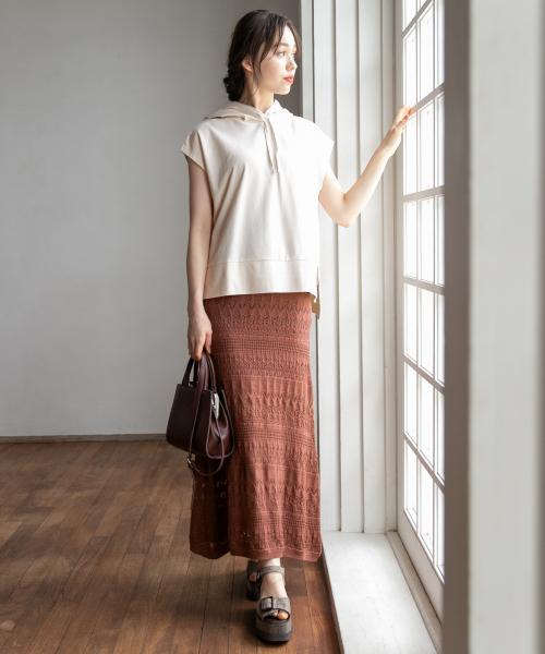[Heather] カギバリニットスカート 847361