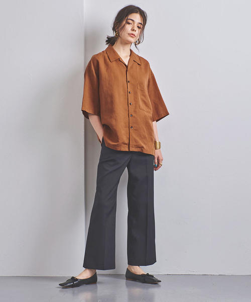 [UNITED ARROWS] <STYLE for LIVING> ビッグ オープンカラーシャツ