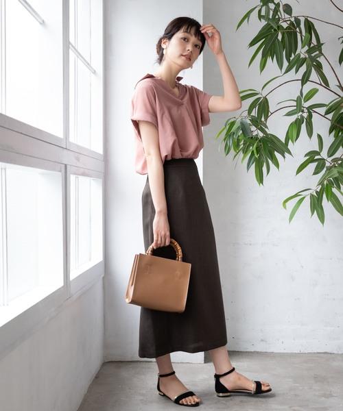 [TIENS ecoute] サイドステッチタイトスカート