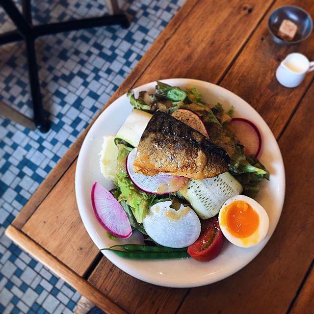 塩鯖と季節野菜のサラダ