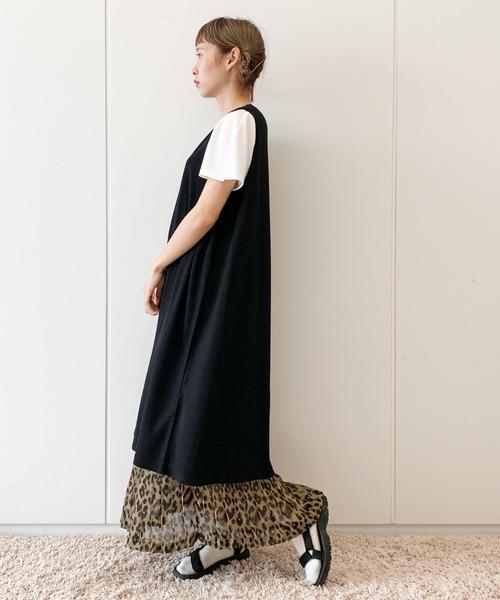 [E hyphen world gallery] 【先行予約】レオパードプリーツスカート