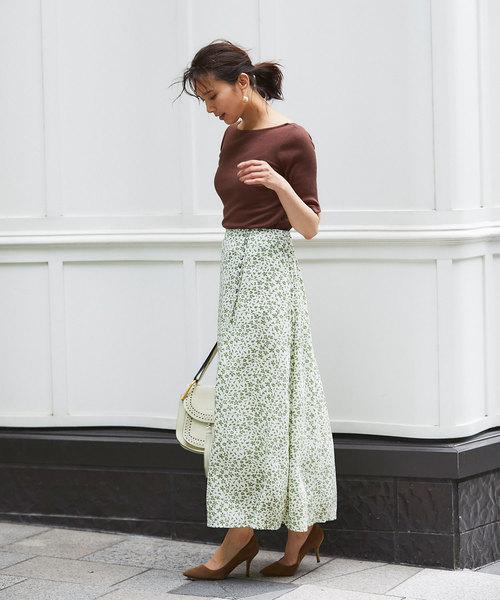 [tocco closet] 【S size collection】小花柄ナロースカート