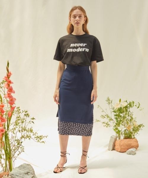 [KONVINI] 【ANEDIT 】レイヤード スカート