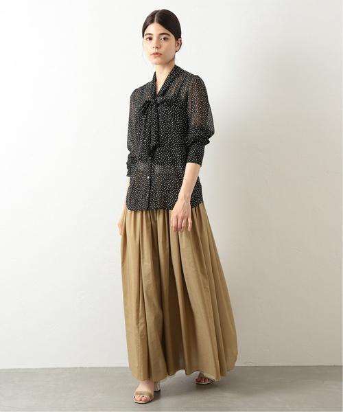 [Spick & Span] *【N.Jam】リバーシブル ギャザーマキシスカート