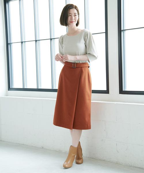[ROPE' PICNIC] ドビーラップ風スカート