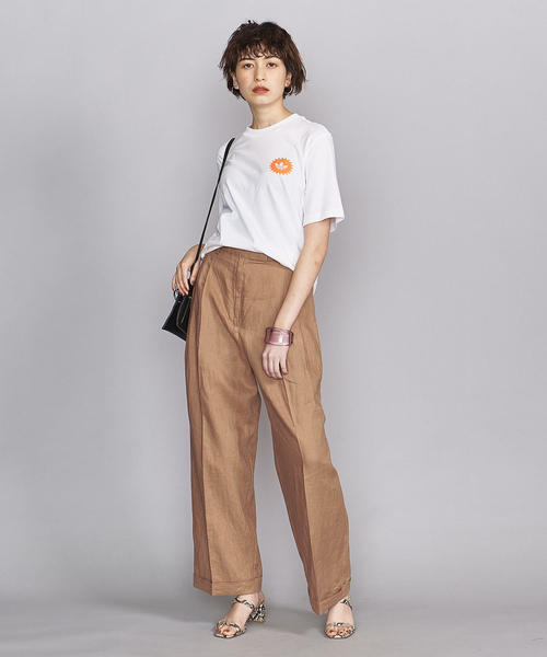 [BEAUTY&YOUTH UNITED ARROWS] BY 3タックワイドパンツ/麻