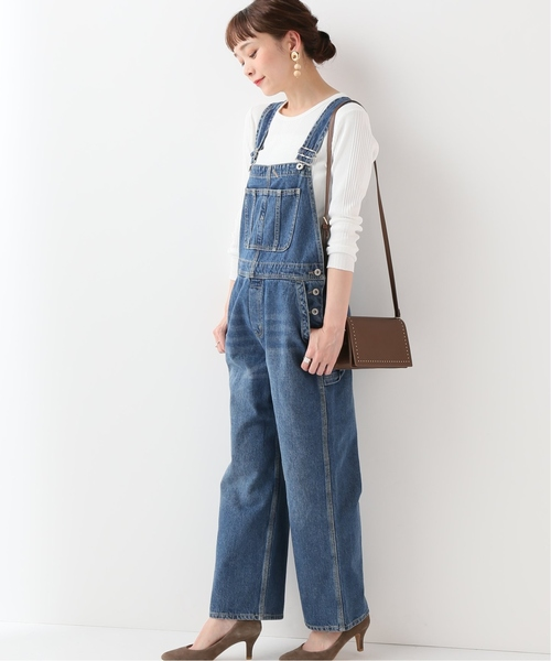 [IENA] LE DENIM BIG オーバーオール◆