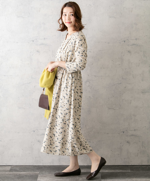 [URBAN RESEARCH ROSSO WOMEN] フラワーMIXプリントワンピース