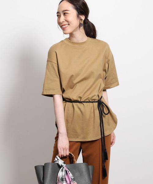 [ROPE'] 【ロープベルト付き】オーバーサイズTシャツ