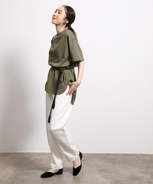 [ROPE'] 【ロープベルト付き】オーバーサイズTシャツ2