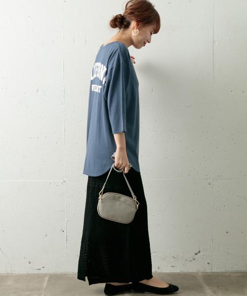 [URBAN RESEARCH] Backロゴ七分袖ルーズTシャツ