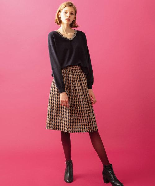 [ADMIX-Japan/JETSET SOLO PLUS] 【BONSUI】ハウンドトゥーススカート