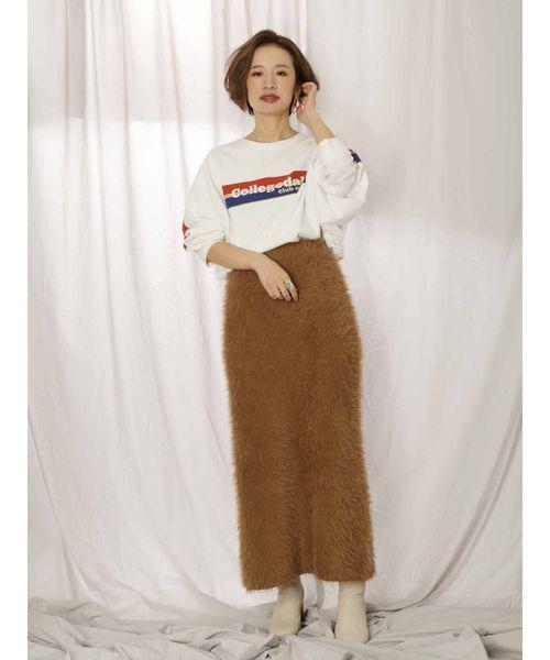 [Ungrid] フェザーヤーンフィットマキシニットスカート
