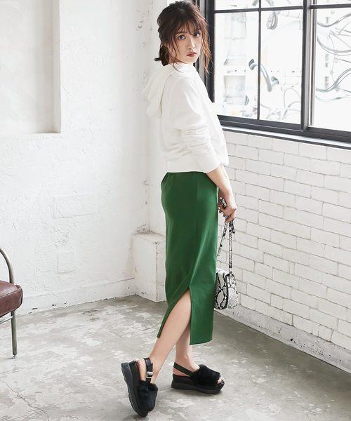 [kobelettuce] 動けるスーパーストレッチサイドスリットタイトスカート