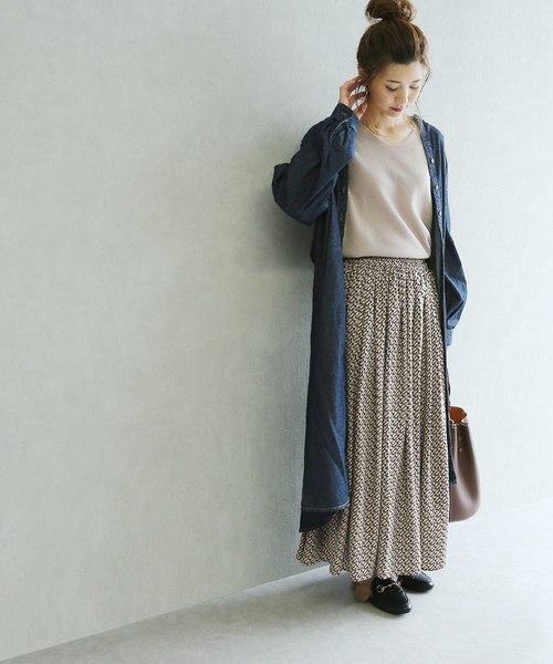 [reca] 幾何学柄スカート